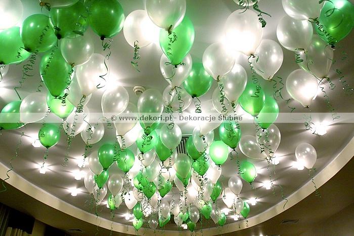 balony napełnione helem